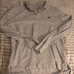 American Eagle Outfitters Long Sleeve Collared Tee